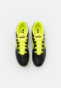 Diadora - PICHICHI 3 MD JR UNISEX - Moulded stud football boots - black/fluo yellow - 3