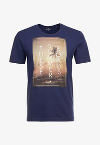 TOM TAILOR - TEE - Print T-shirt - true dark blue - 3