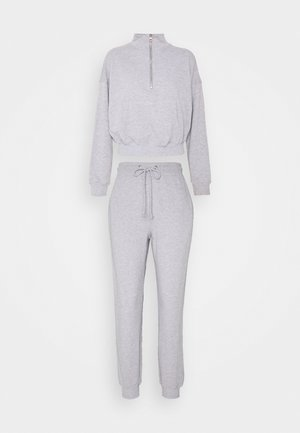 ZIP JOGGER SET - Trainingsbroek - grey