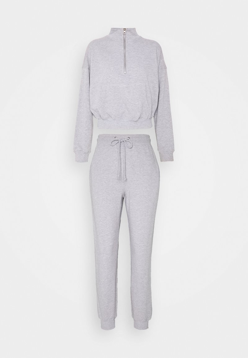 Missguided Petite - ZIP JOGGER SET - Tracksuit bottoms - grey