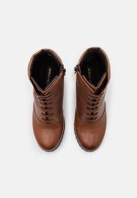 Anna Field - LEATHER - Kotníková obuv na vysokém podpatku - dark brown - 5