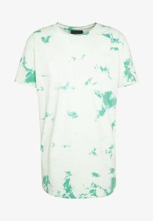 MIND CONTROL ROUNDED TEE - T-shirt imprimé - mint/white