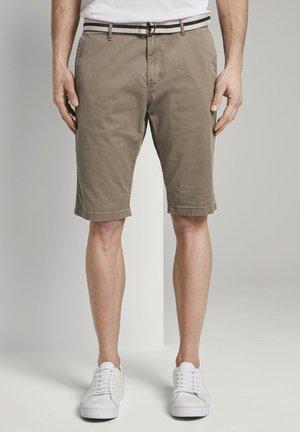 Shorts - beige rhomb design