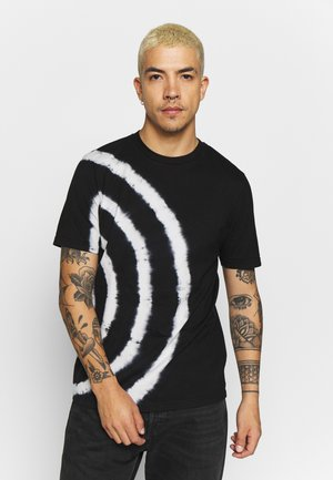 JUST - T-shirt con stampa - black/white