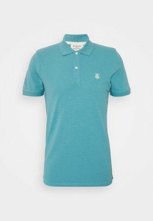 SLHARO EMBROIDERY - Polo shirt - horizon blue