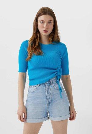 MOM-FIT - Shorts di jeans - dark blue