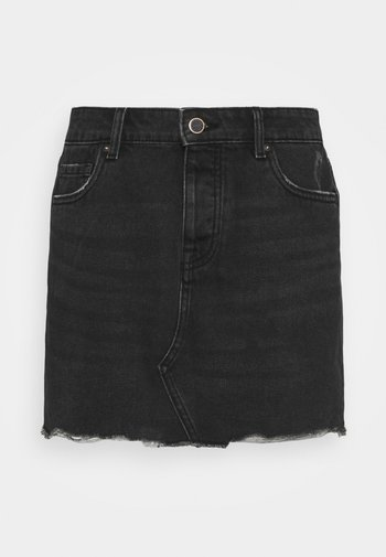 ONLSKY LIFE  - Mini skirt - black denim