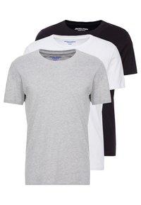 Jack & Jones - JORBASIC TEE CREW NECK 3 PACK - T-shirt - bas - white/black/grey - 0