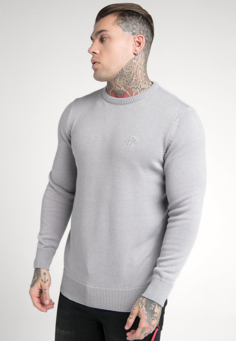 SIKSILK - CREW - Jumper - light grey