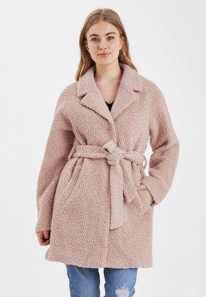 BYALUNA - Short coat - warm rose