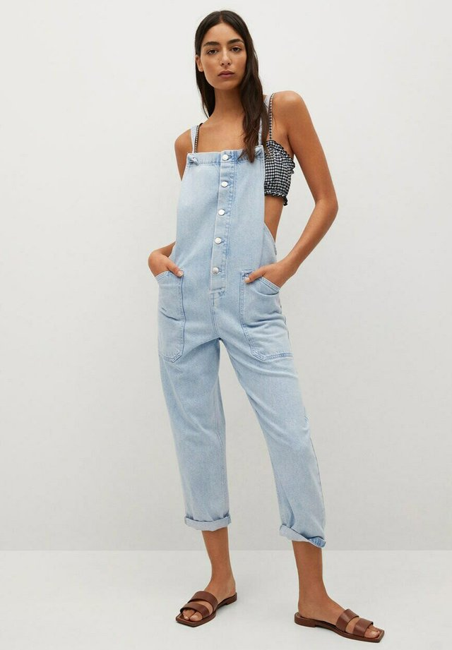 Dungarees - medium blue