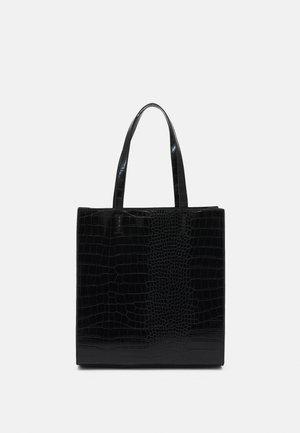 ELLA CROCO SHOPPER - Shopping bags - black