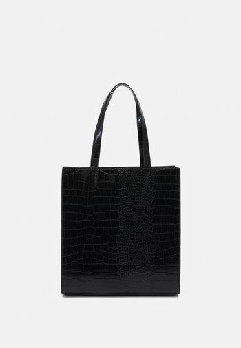 ELLA CROCO SHOPPER - Tote bag - black
