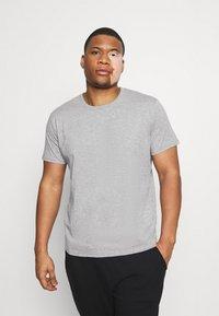 LTB - 3 PACK - Basic T-shirt - black/olive/grey melange - 2