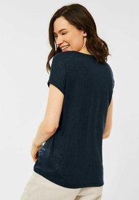 Cecil - MIT BURNOUT-OPTIK - Print T-shirt - blau - 2