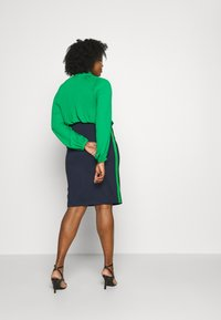 MY TRUE ME TOM TAILOR - PANEL PENCIL SKIRT - Pencil skirt - real navy blue