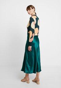 Monki - BAILEY SKIRT - Falda larga - dark green - 2