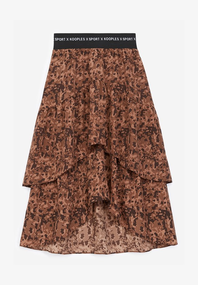 FLUIDE - A-line skirt - brown