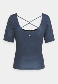 Sweaty Betty - ALL DAY SHORT SLEEVE - T-shirt print - navy blue - 1