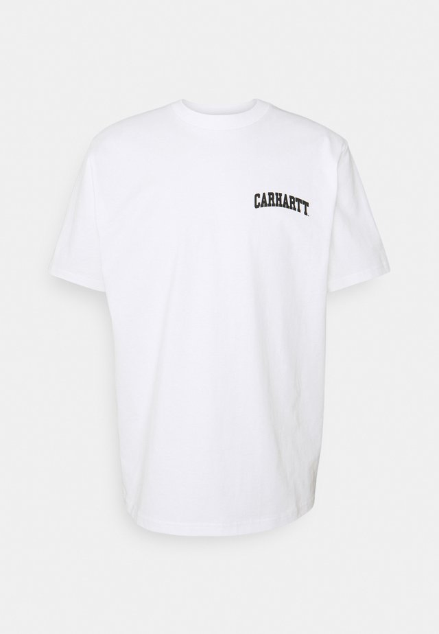 UNIVERSITY SCRIPT - Print T-shirt - white/black
