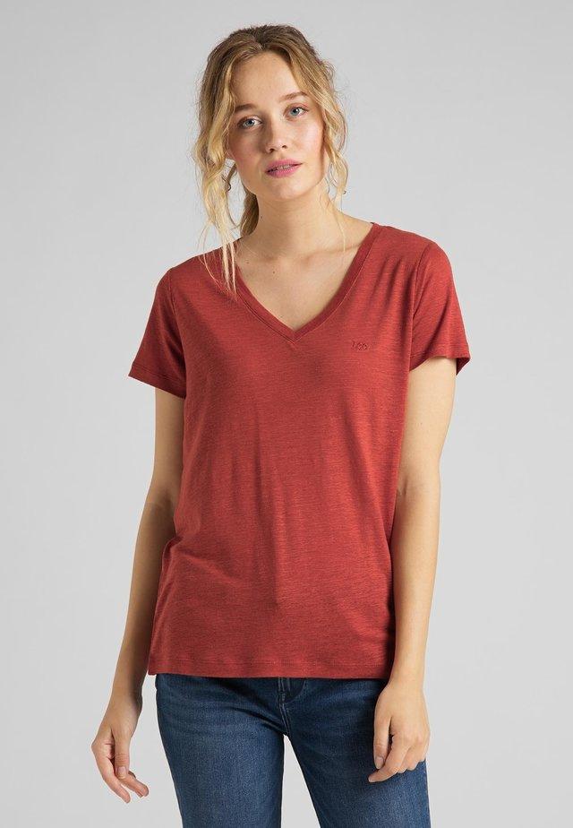 Camiseta estampada - red ochre