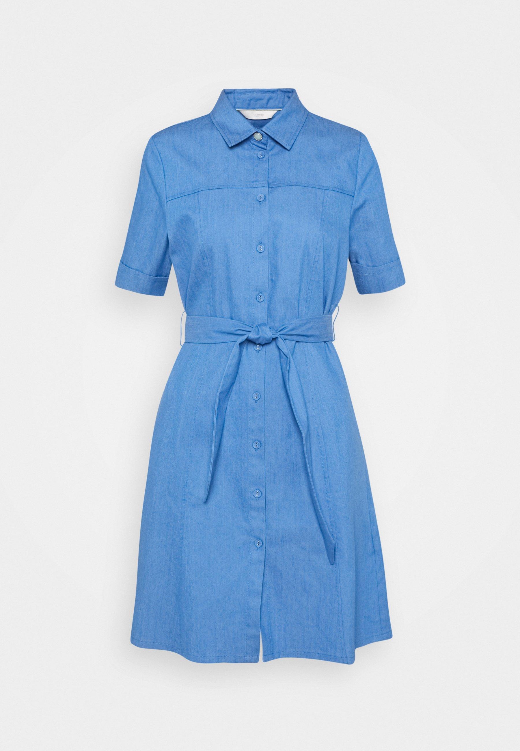 Women NUCATHLEEN DRESS - Denim dress