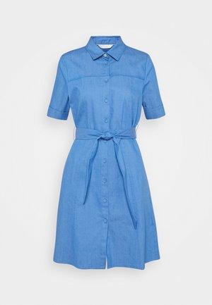 NUCATHLEEN DRESS - Denim dress - medium blue denim