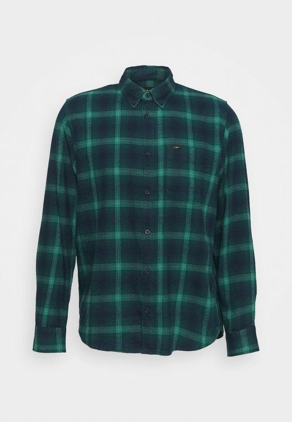 Lee BUTTON DOWN - Koszula - pine/granatowy Odzież Męska PFWW