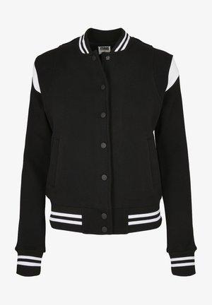 Mikina na zip - black/white