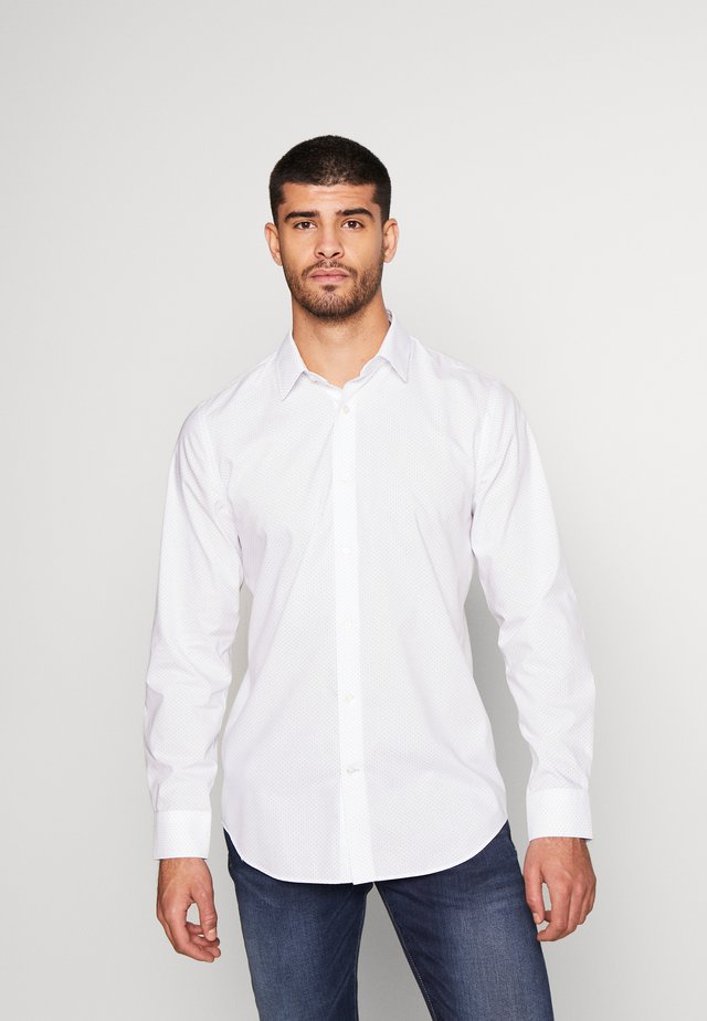 MICRO DOT PRINT - Shirt - white/blue