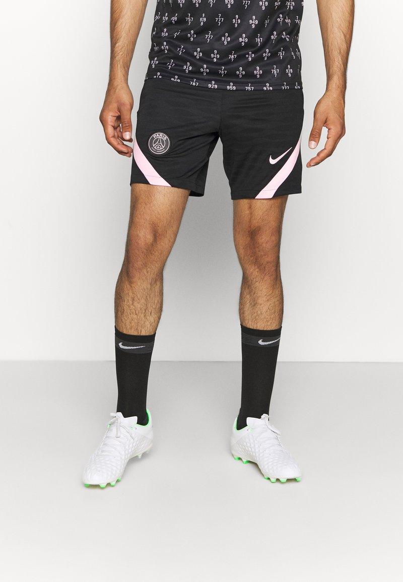 Nike Performance - PARIS ST GERMAIN SHORT AWAY - Club wear - black/arctic punch