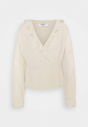 WRAPPED RUFFLE BLOUSE - Bluser - pink