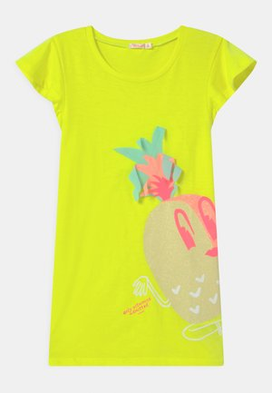 Jersey dress - jaune fluo