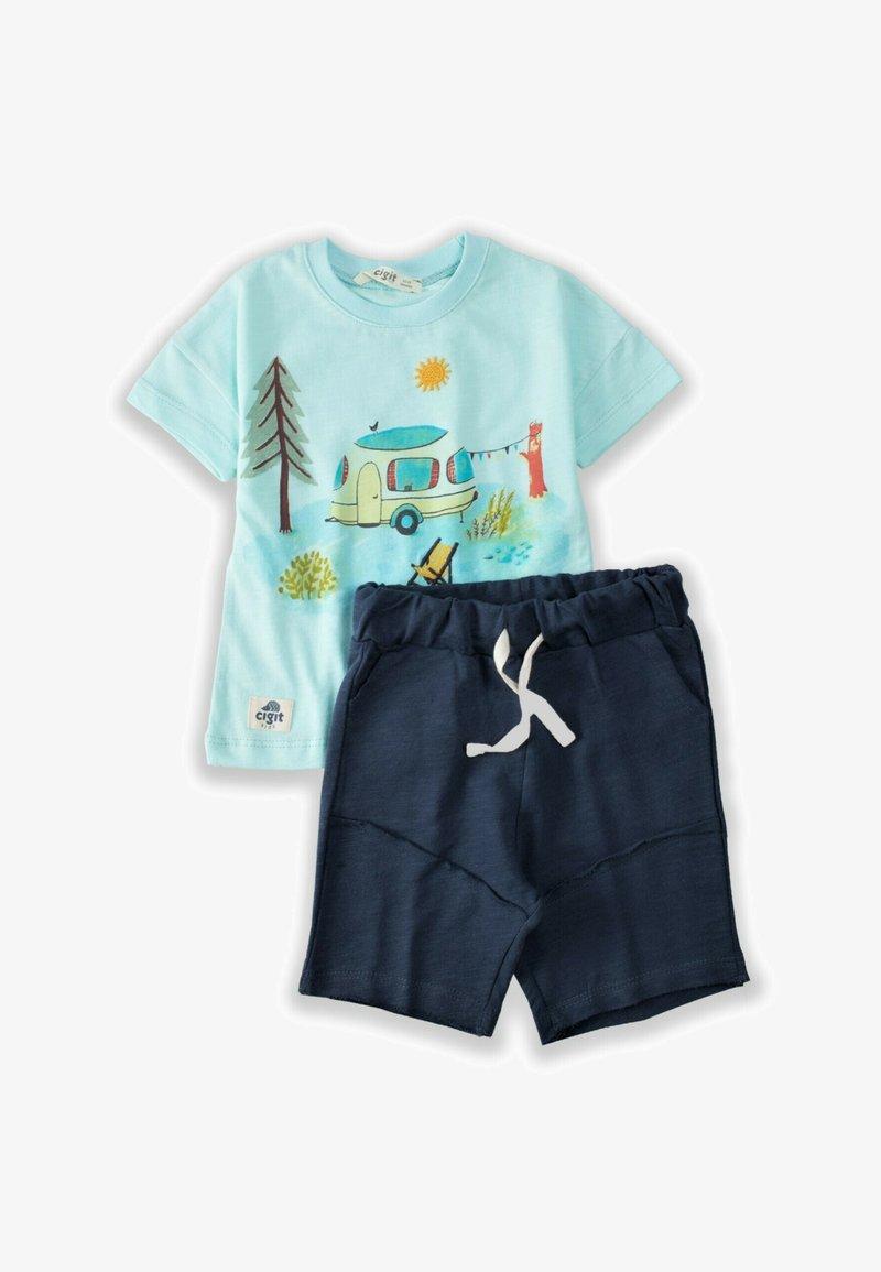 Cigit - CAMPING PRINTED - Shorts - turquoise