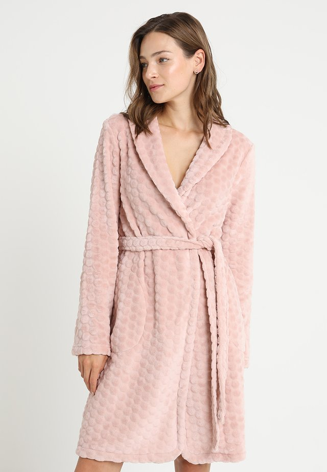 ROBE SHORT HONEYCOMB - Dressing gown - rose smoke