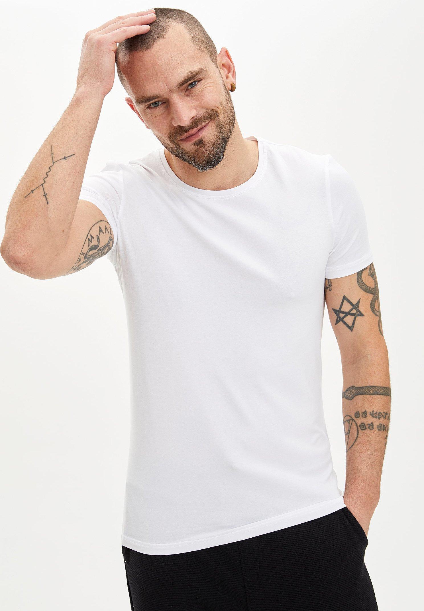DeFacto Basic T-shirt - white 19oMN