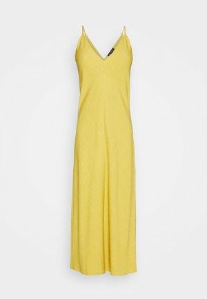 V NECK MERROW EDGE SHEATH - Day dress - gold ochre