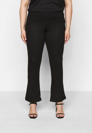 PCSKYWEN FLARED PANT - Bukse - black