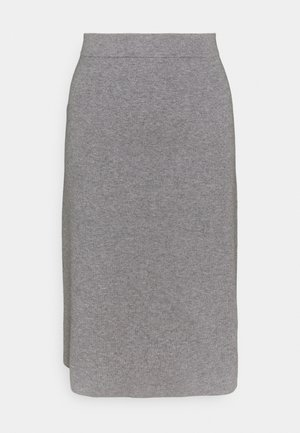 CORE - A-line skirt - gunmetal