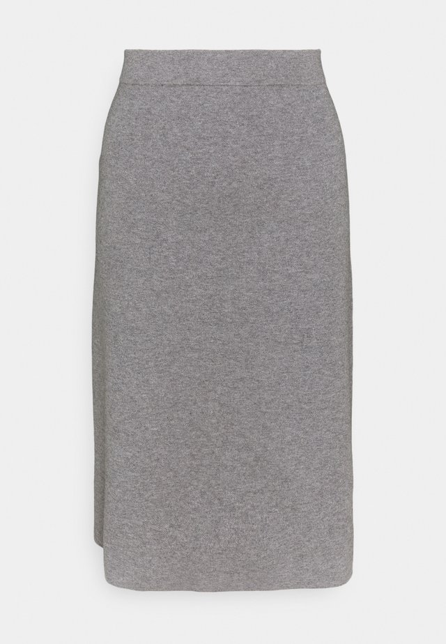CORE - Spódnica trapezowa - gunmetal