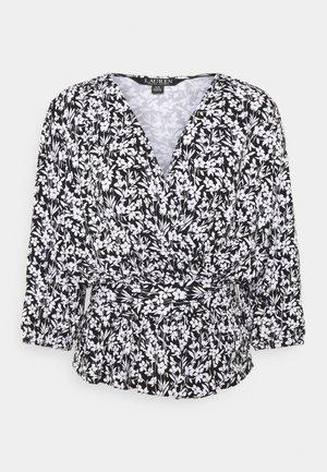 SHIANETA MID SLEEVE - T-shirt à manches longues - black/white