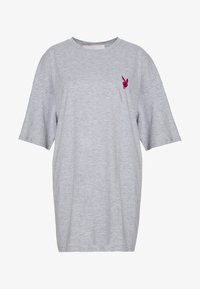Missguided - PLAYBOY MISSION STATEMENT OVERSIZED T SHIRT DRESS - Vestido ligero - grey - 0