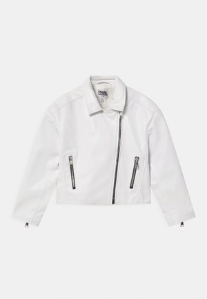 Faux leather jacket - white