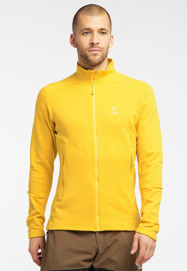 HERON  - Fleece jacket - pumpkin yellow