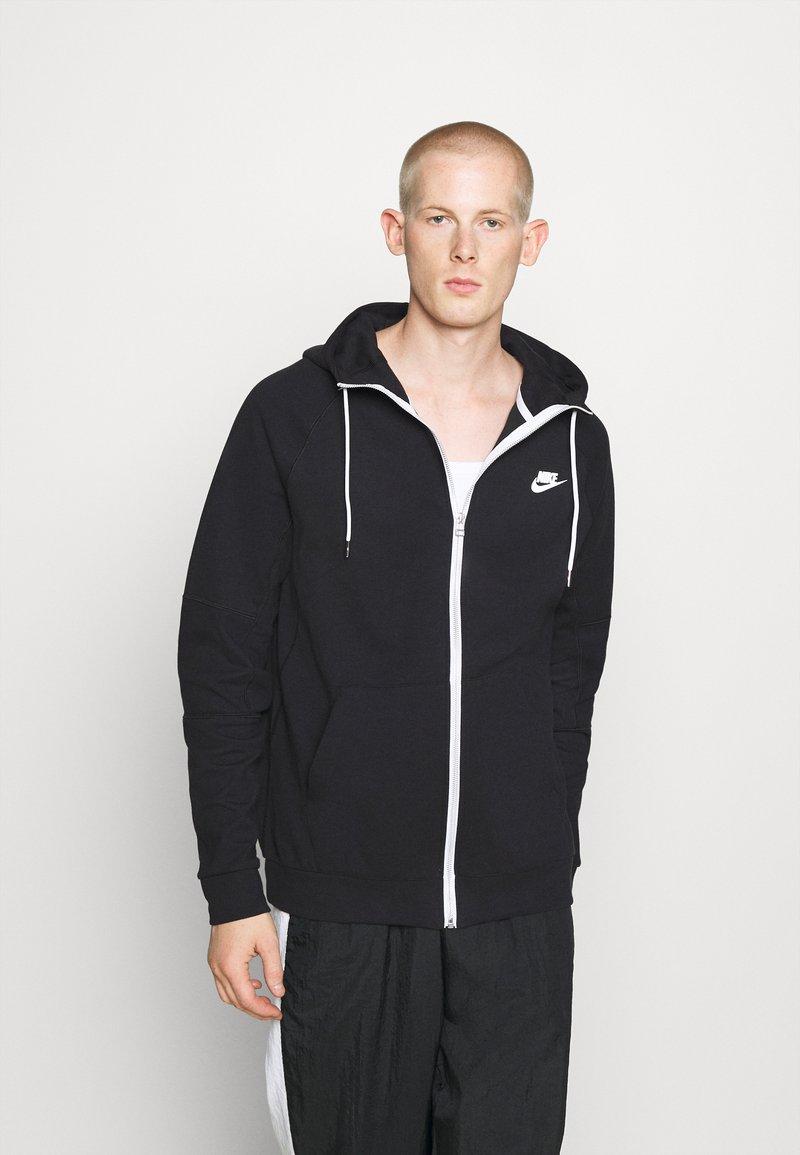 Nike Sportswear - Zip-up hoodie - black/ice silver/white