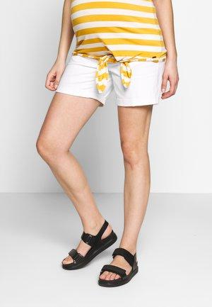 Denim shorts - bright white