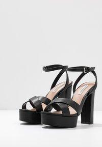Even&Odd Wide Fit - LEATHER - Sandaler med høye hæler - black - 4