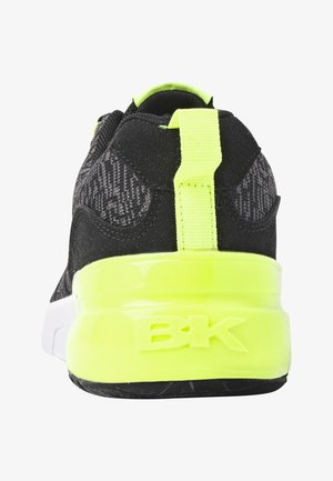 Sneakers laag - black/neon yellow