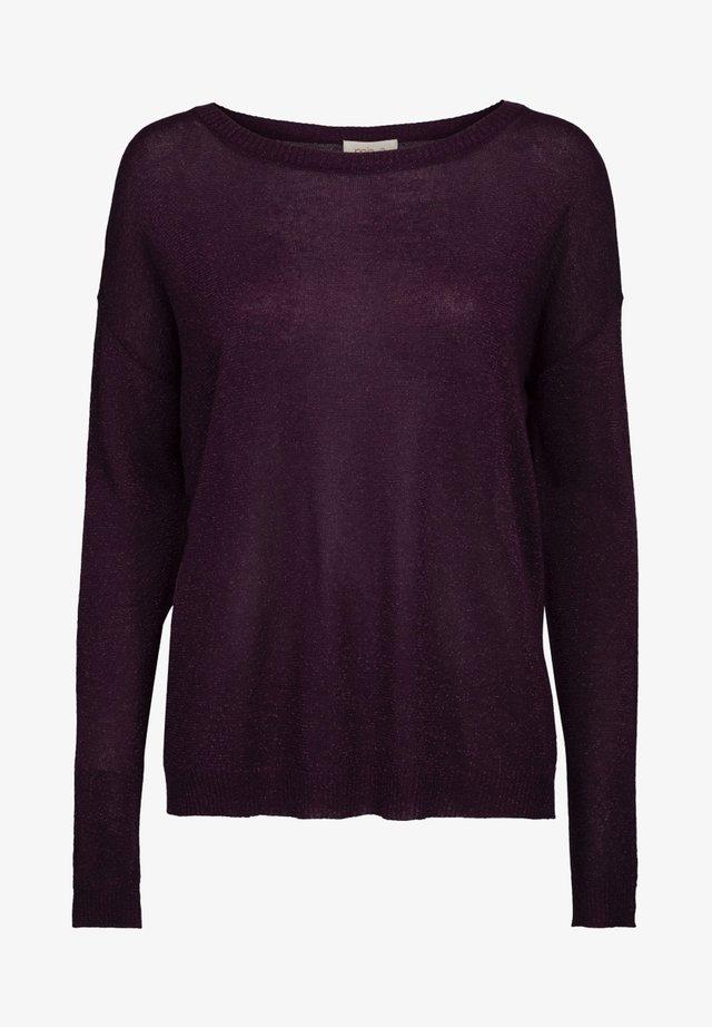 ELNE - Maglione - purple agat lurex