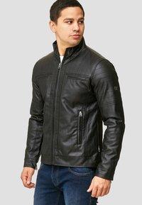INDICODE JEANS - BROOK - Faux leather jacket - black - 0